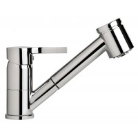 Sanifun Schütte LISSABON sink mixer with pull-out dual spray, chrome