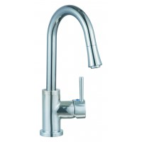 Sanifun Schütte UNICORN sink mixer with pull-out aerator, chrome