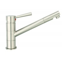 Sanifun Schütte CORNWALL sink mixer, stainless steel