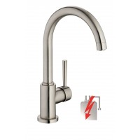 Sanifun Schütte CORNWALL sink mixer, low pressure, stainless steel