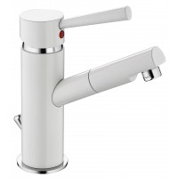 Sanifun Schütte CORNWALL basin mixer, white