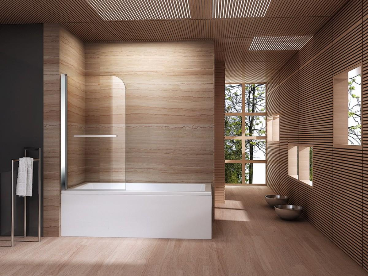 Badkamermeubel Met Badklapwand : Glazen badwand op maat van het ligbad blog sanifun