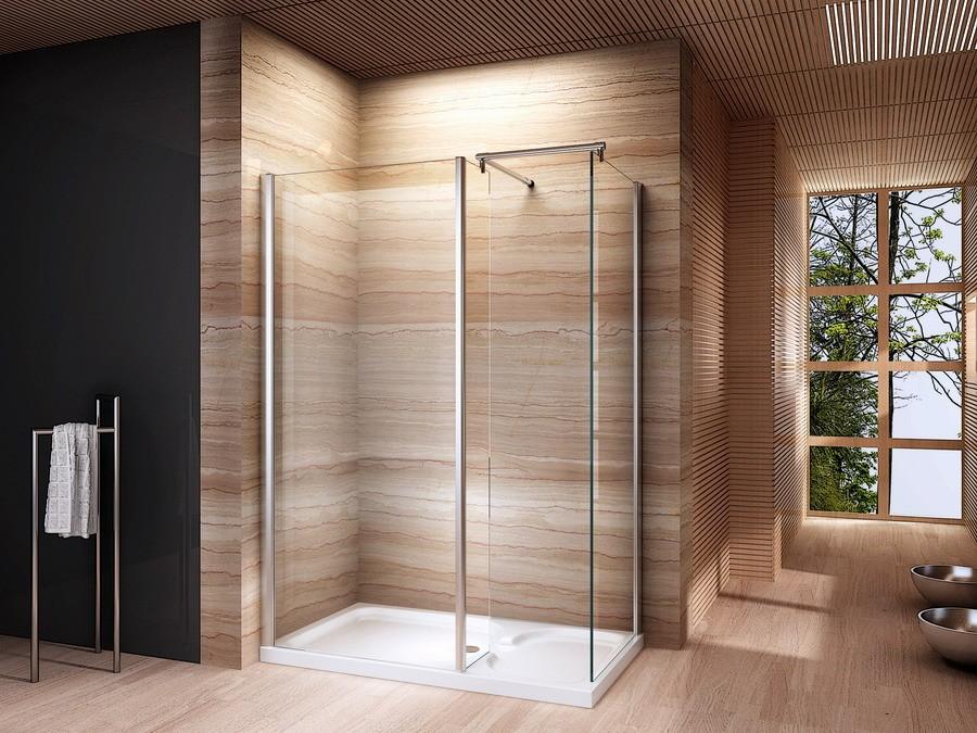 Donkere rijke kleuren in de badkamer combineren goed met een